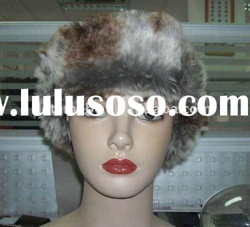 2012 New fashion ladies russian style faux mink fur hats /caps