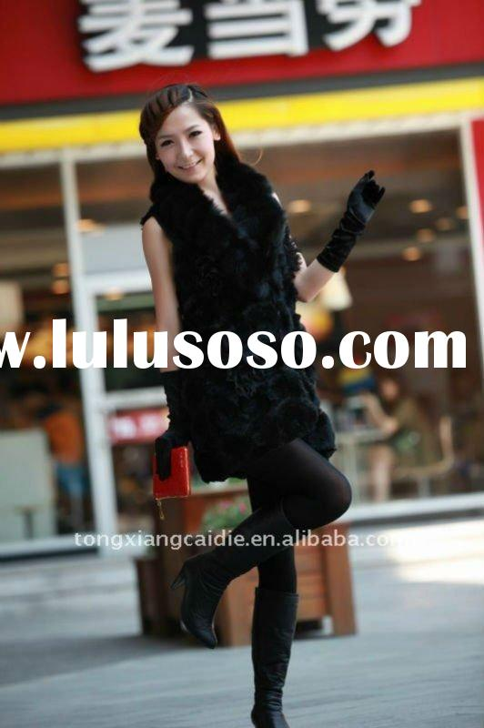 2012 new item Most fashion rabbit fur vest for spring