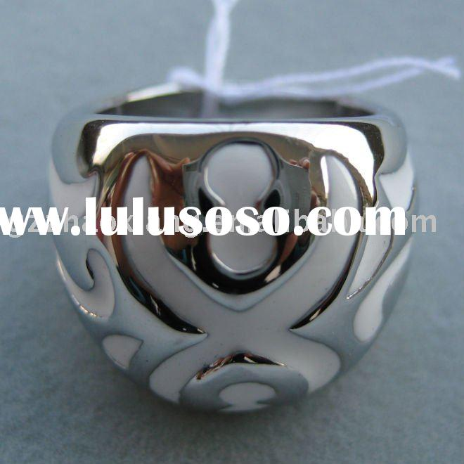 316L Stainless steel new fashion jewellries white paint jewelry manufacturers