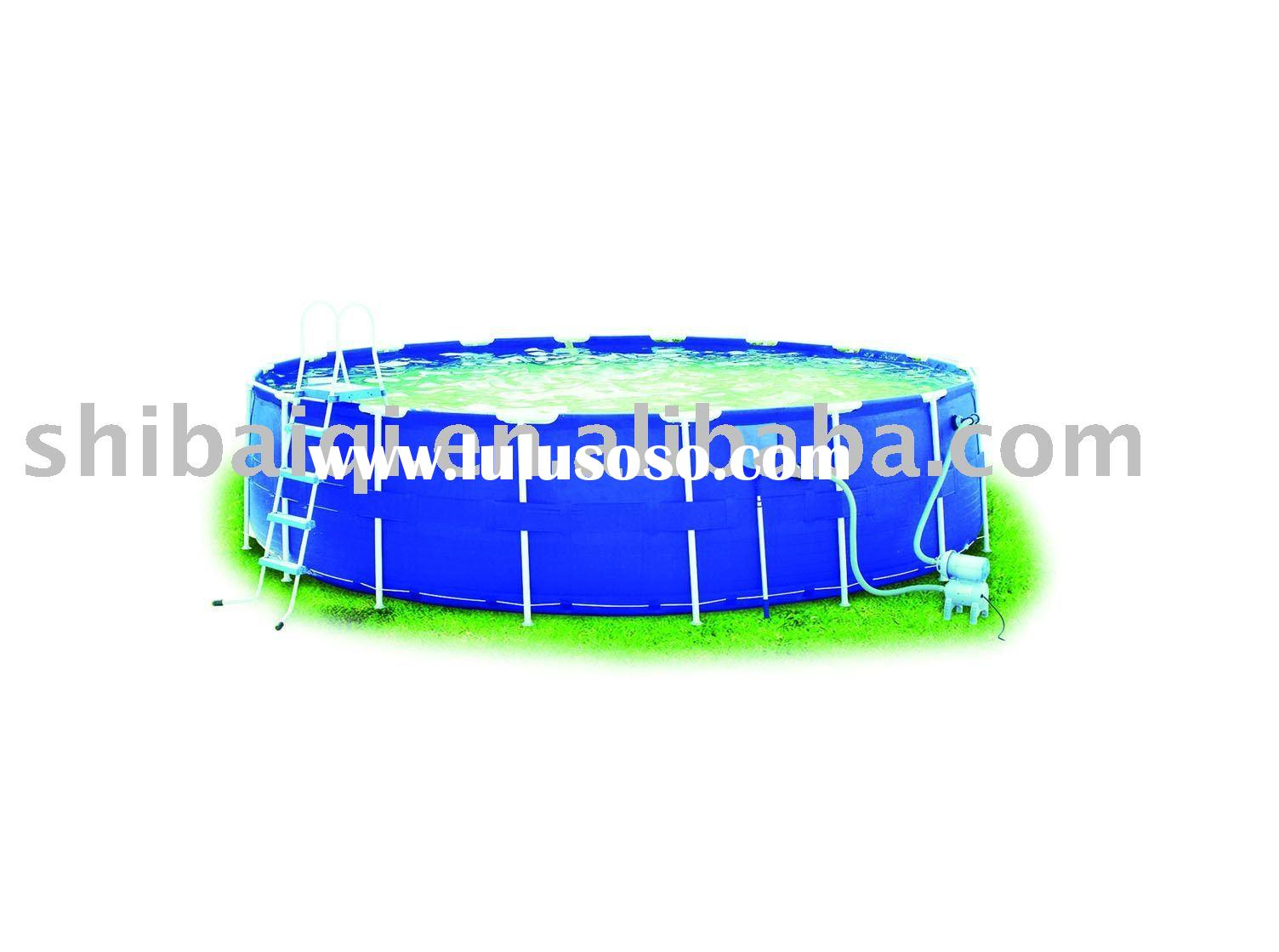 Inflatable above ground pool slides inflatable above for Above ground pool manufacturers