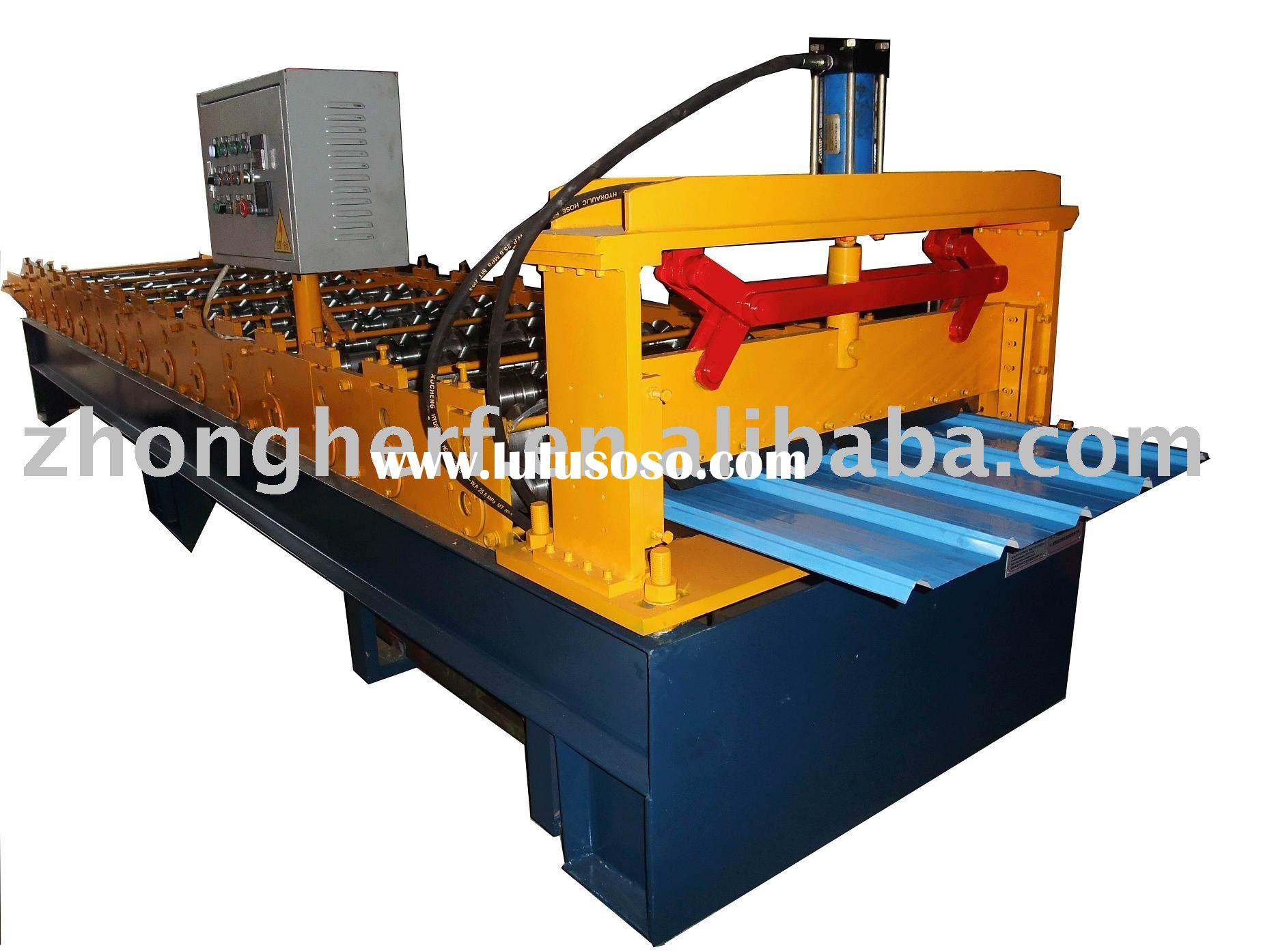 Automatic color galvanized steel sheet single layer roof tile roll forming machine
