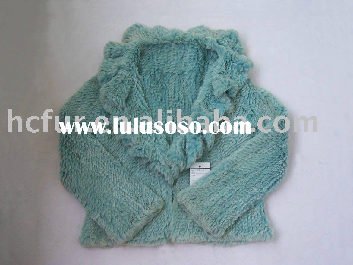 Blue rabbit fur coats