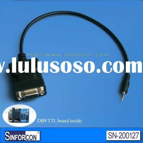 DB9 female to TTL -3.5mm audio jack 3p male connector, molded type