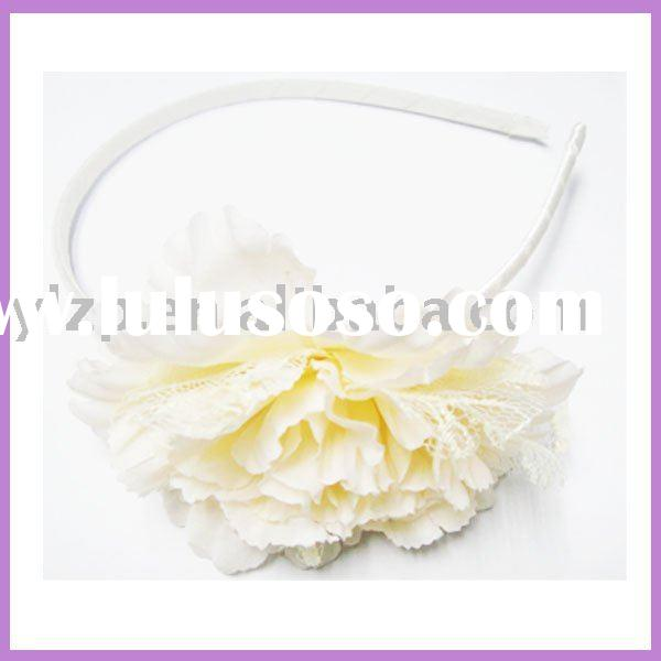 Decorative artificial flower hair band