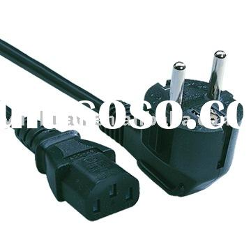European Type AC PC Y Power Cord Cable euro standard plug connector