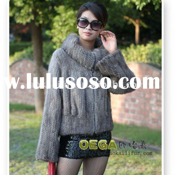Genuine knitted Mink Fur Jacket \mink fur garment \mink fur coats