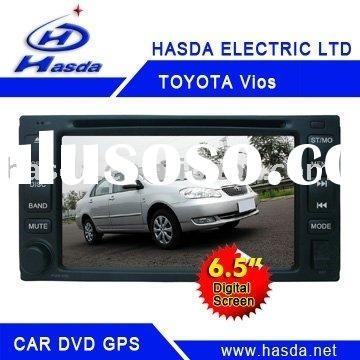 "In-dash Car DVD with FM/AM Radio/Built-in TV/GPS/6.5"" TFT Monitor/Built-in Bluetooth for Toyota"