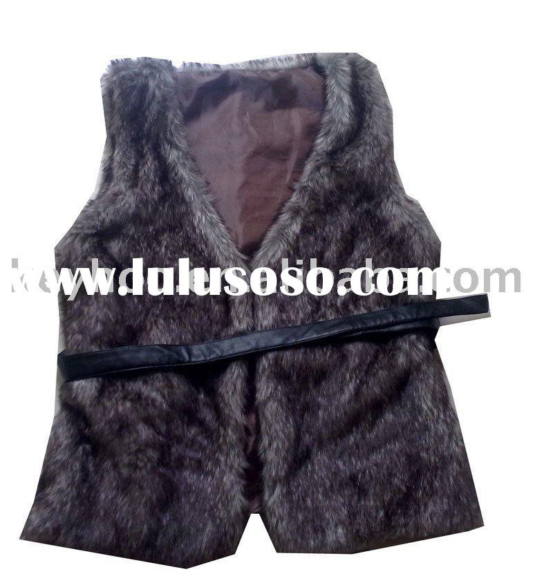 LADIES' FAUX FUR VEST