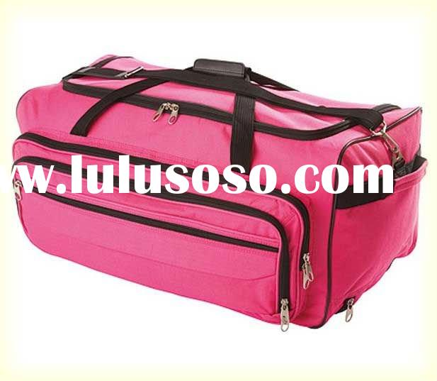 Large Pink Wheeled Trolley Bag Holdall Travel Bag Case