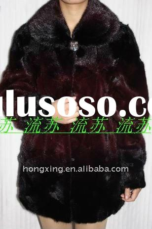 Modern fashion mink fur coat & 2011 luxurious mink fur coat for women