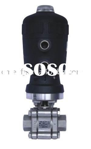 Pneumatic Actuator Stainless Steel 3pcs Ball Valve