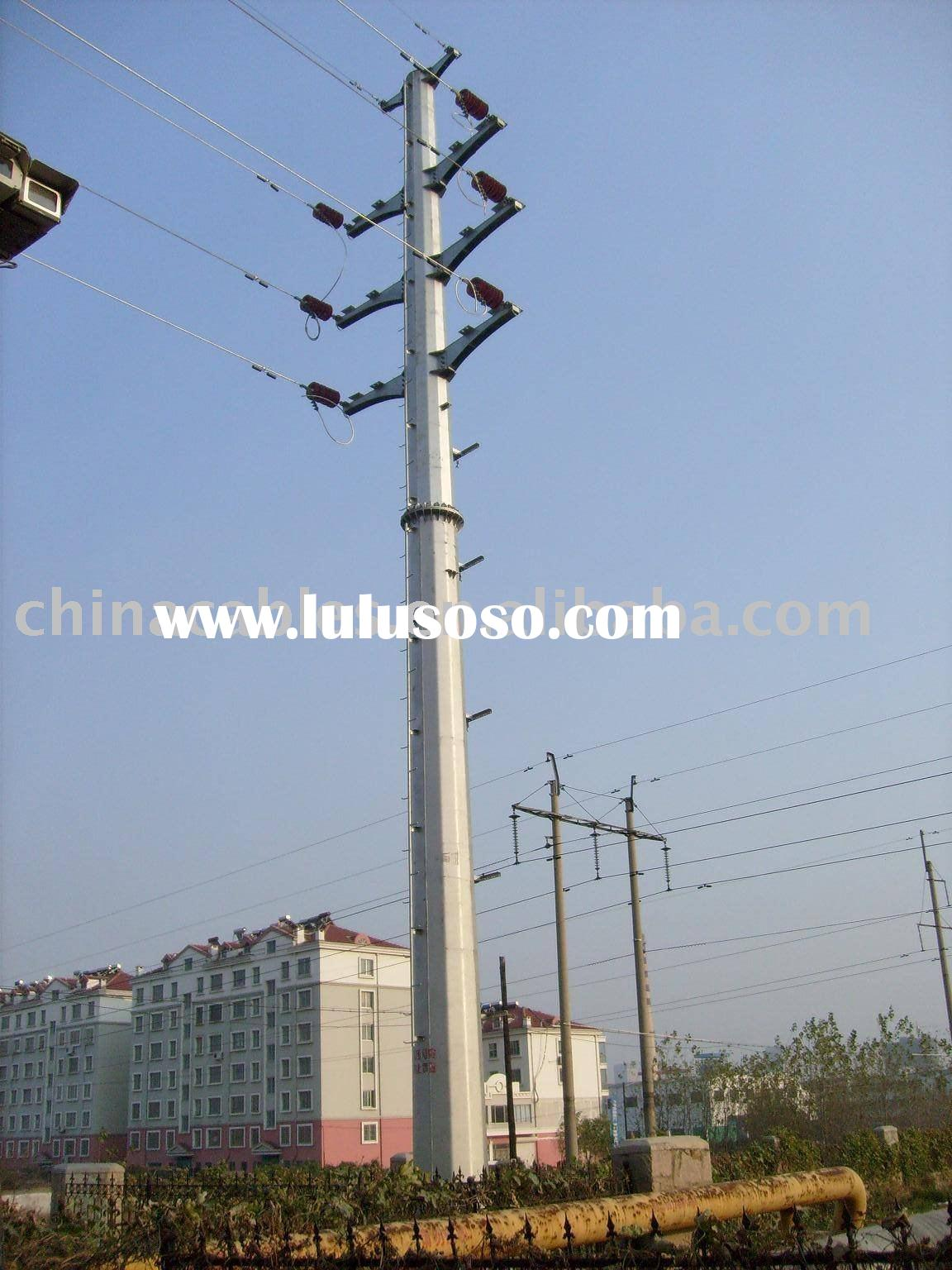 Power Transmission Line Steel Poles