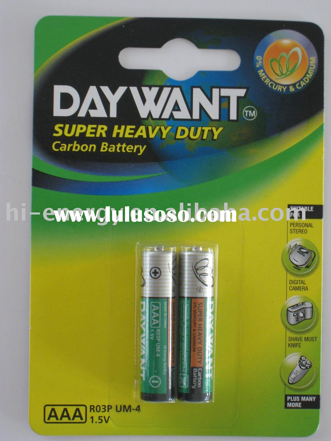 R03P/AAA/SUM-4 Dry battery high power battery