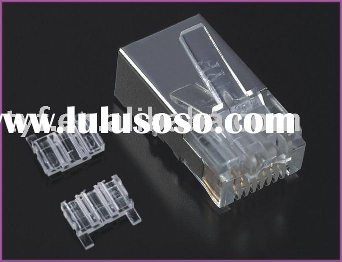 RJ45 CAT6 8P8C SHIELDED CABLE CONNECTOR OD 1.25MM