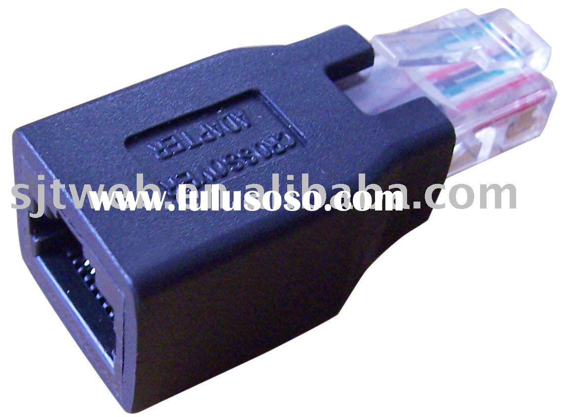 RJ45 ethernet male to female crossover adapter,RJ45 crossover adaptor,ethernet crossover connector R