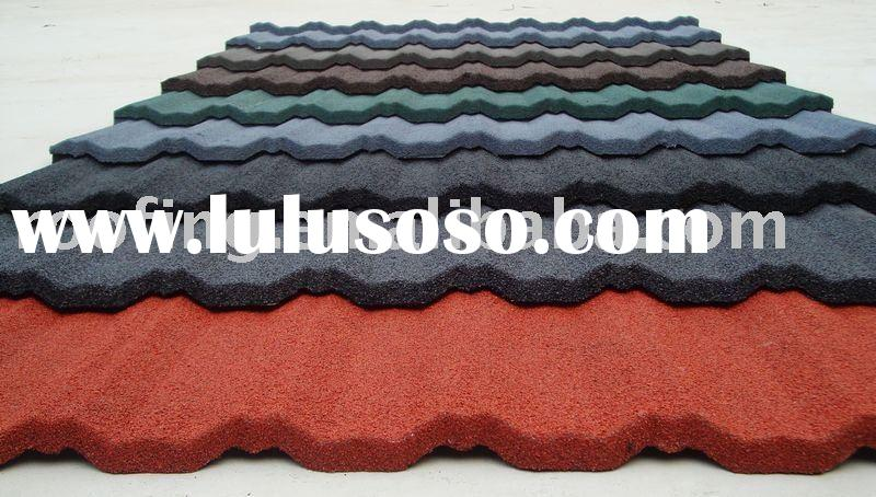 Stone Coated Chip Steel Roof Tile (Metal Roofing Sheets)