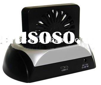 USB3.0 TO SATA HDD Docking Station Dock with 8-cm fan