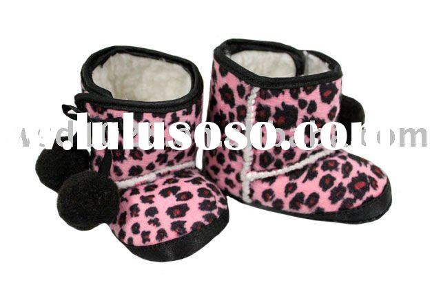 Zebra/cheetah/leopard printed baby boots/Baby Unit-Slip Animal boots/Animal printed baby boots JYS00