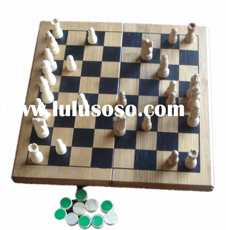 bamboo chess game box