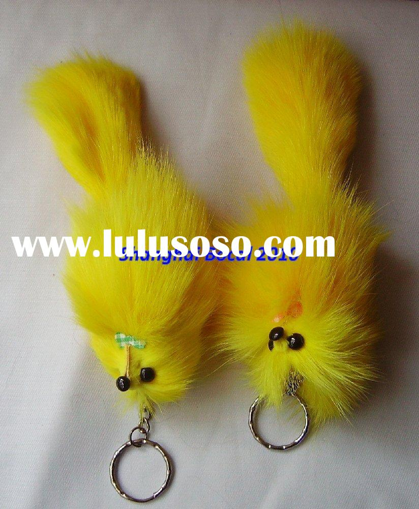 bocal rabbit fur,rabbit fur key chain,rabbit fur promotional iterms