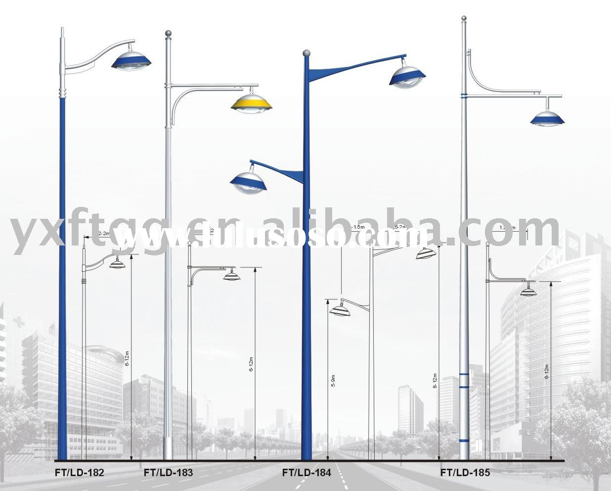 galvanized steel street lamp pole