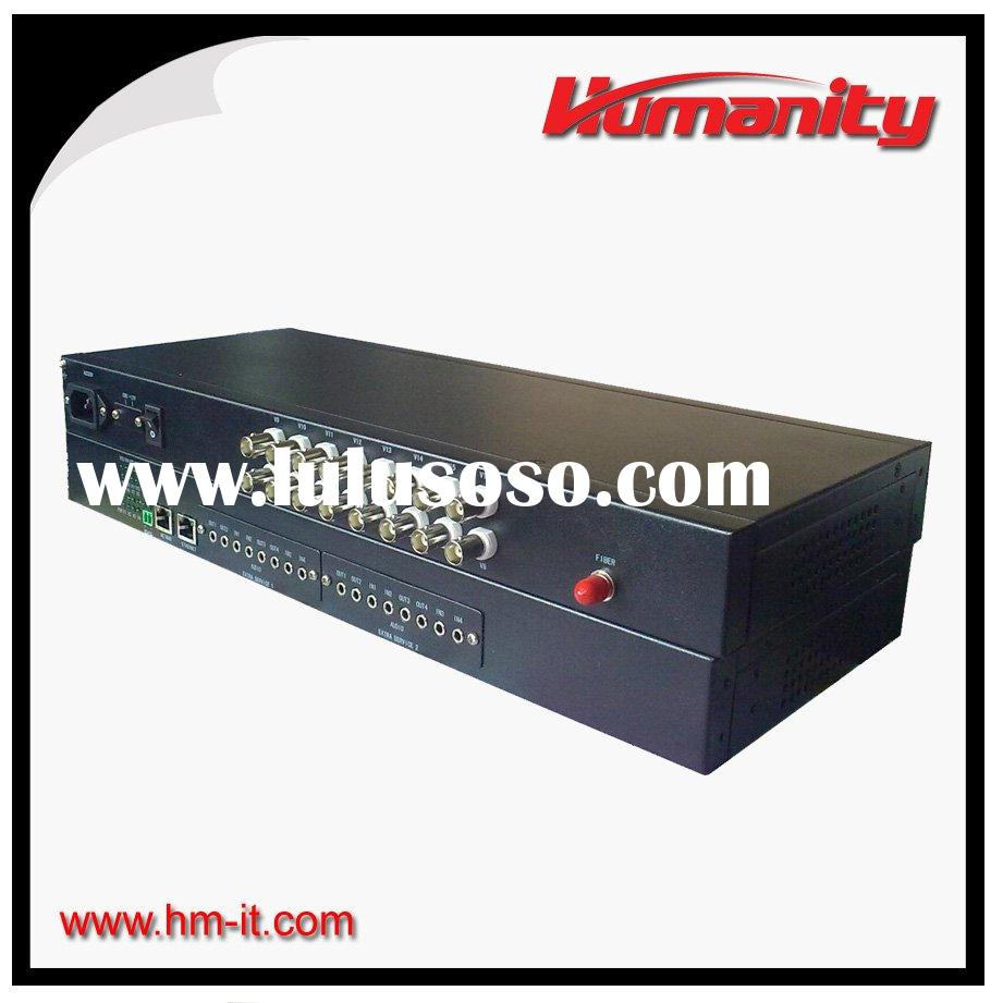 humanity 16 channel video to fiber converter with data
