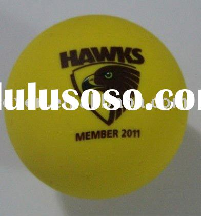 ink print rubber NCAA lacrosse ball with logo