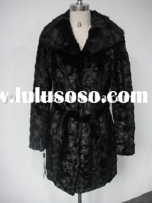 ladies' sectional sheared mink coat