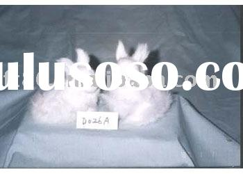 miniature rabbit, fur covered animal miniature fur toys animals china, short rabbit figurines