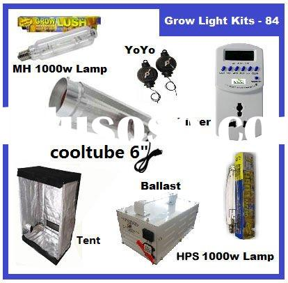 1000 WATT HPS+MH ballast HYDROPONICS Cool Tube Shade Grow Room/Tent Lamps Timer Reflector hanger Hyd