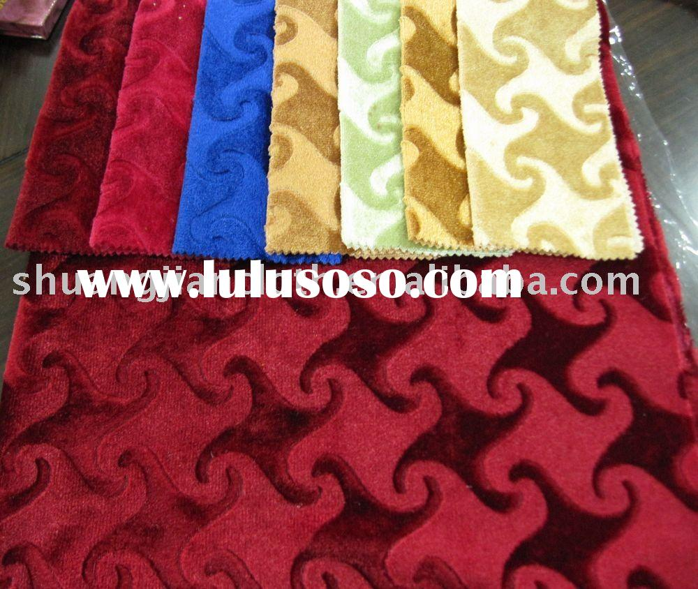 100% Polyester Warp knitted Velvet Fabric-For Sofa, Curtain Upholstery Fabric