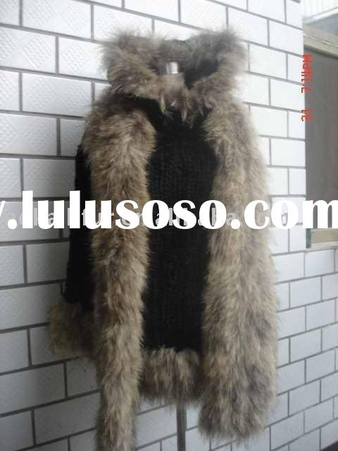 100% real rabbit fur shawl. Dyed rabbit fur knitted poncho. Good quality with wholesale price