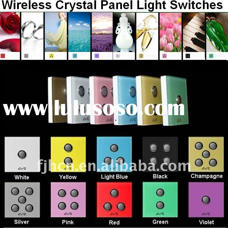 1~5 Gangs Wireless Light Switch (Crystal Glass Panel)