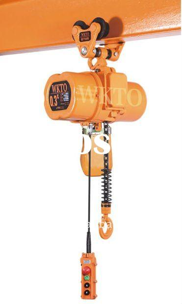 1 ton electric chain hoist with electric trolley