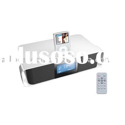 2.1 Channel Speaker System with Alarm Clock Radio for iPod