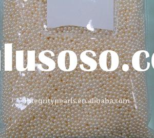 2.5-3mm perfect round freshwater loose pearl
