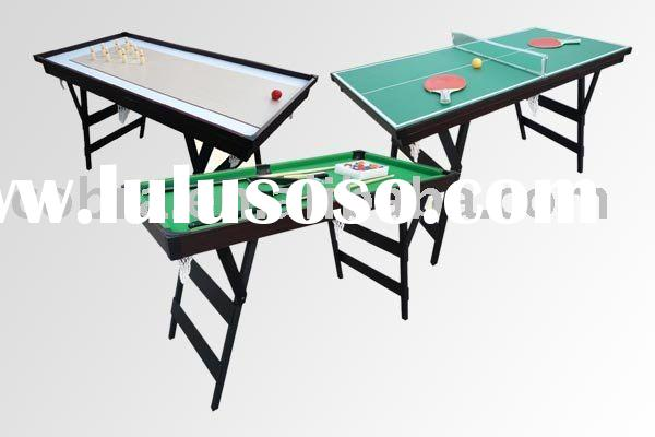 3 in 1 Top grade Game table mini pool+tennis+air hockey table