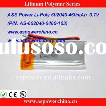460mAh Li Polymer Rechargeable Battery Packs