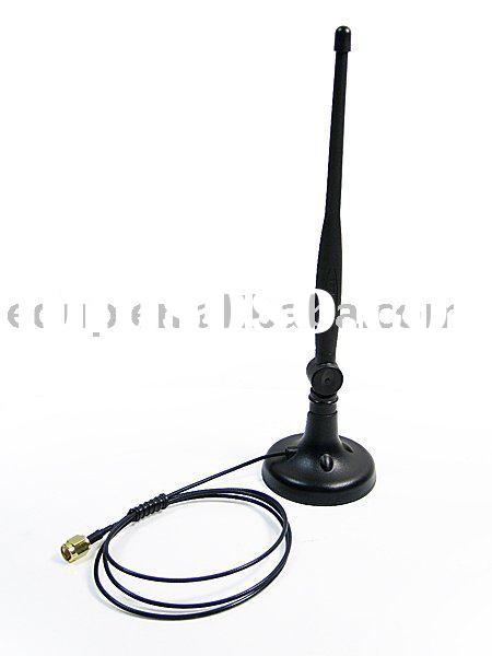 5DBI Gain Wireless LAN RP-SMA For Access Point/PCI Card/Router With Magnet base WIFI Booster Antenna