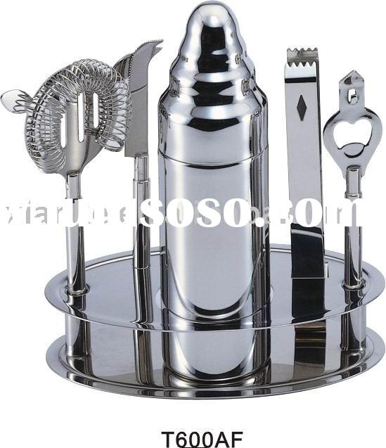 6-piece Stainless Steel Barware Accessories with 500ml Shaker & Solid Handle Accessory