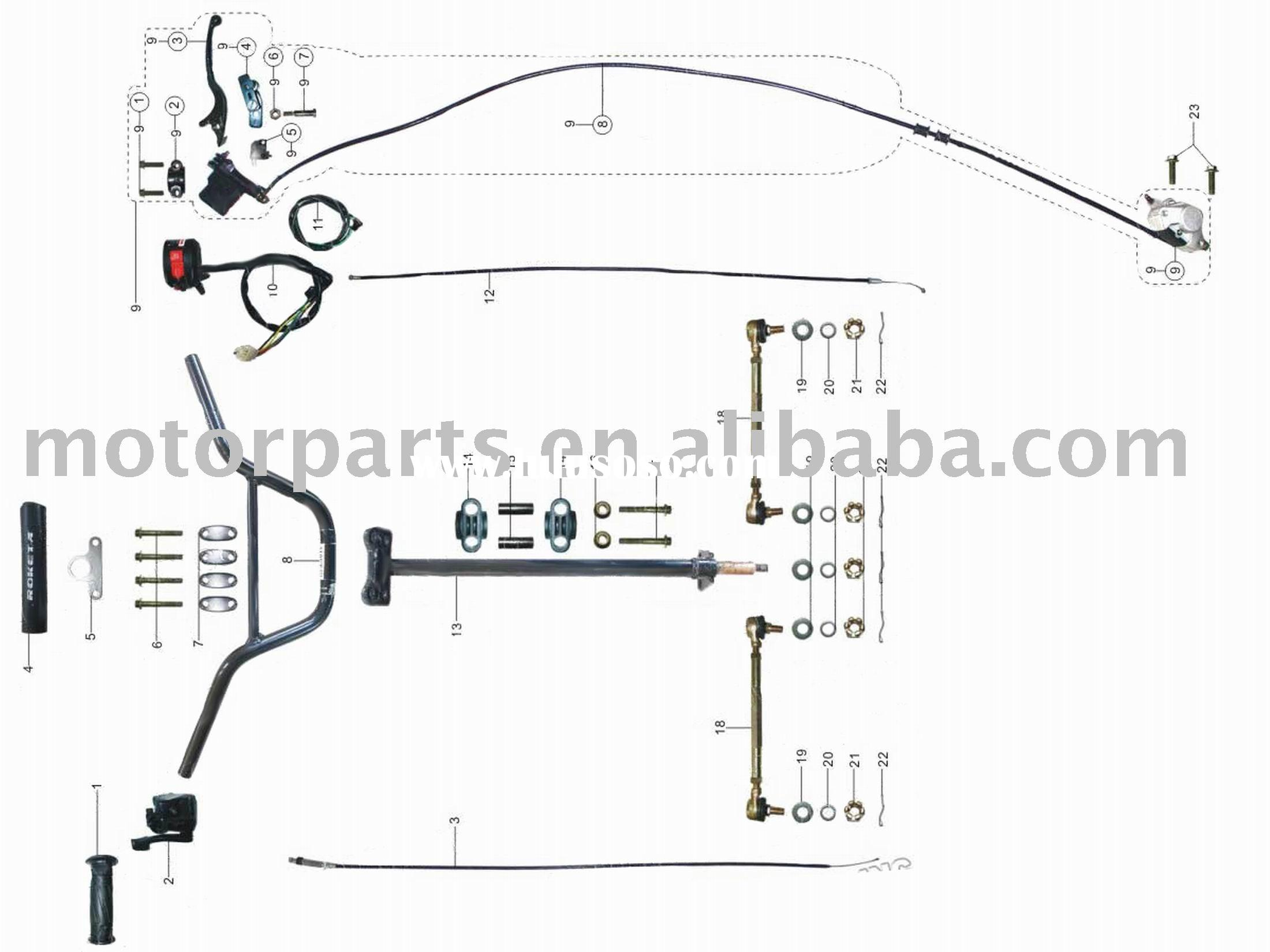 Atv Fsn 110cc Starter Manufacturers In Sunl Wiring Diagram Parts Steering Assy