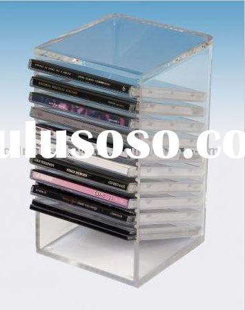 Acrylic CD & DVD Racks / Acrylic CD storage tower