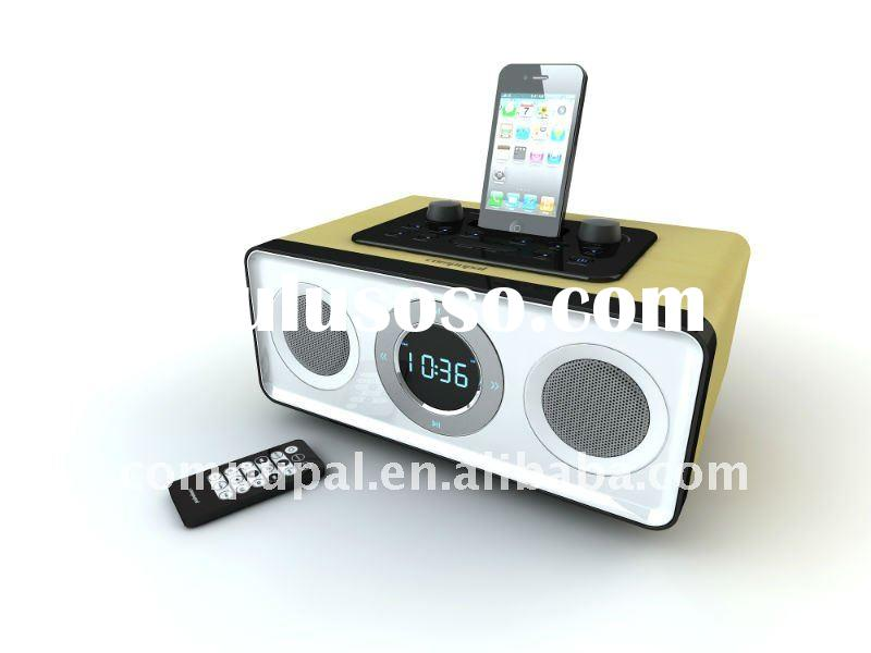 Alarm clock radio speaker for iPhone/ iPod / MP3 player