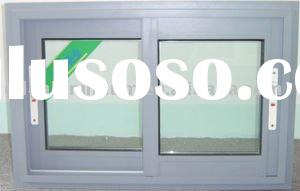 Aluminum window with screen