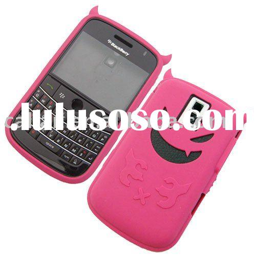 Angel and devil Silicone case/cover/skin for Blackberry Bold 9000/mobile phone accessories/parts