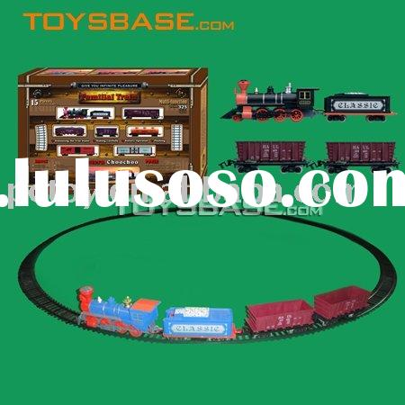 Battery operated train set kids railway toy