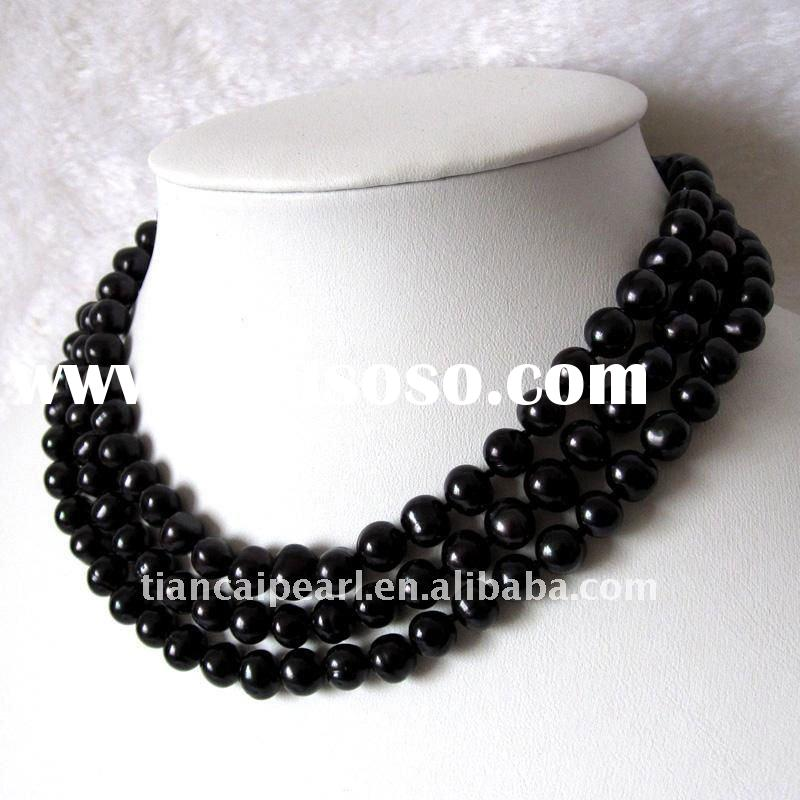 Black Magic freshwater pearl necklace for ladies girls