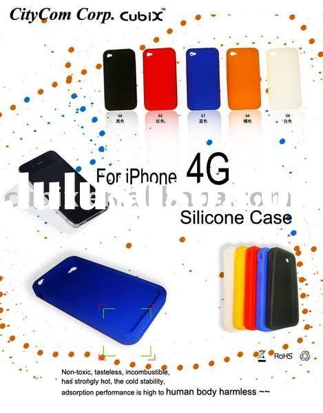 CUBIX Silicone GEL Skin Case for Apple iPhone 4