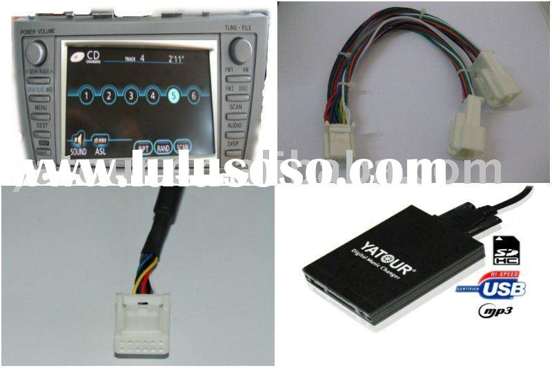 Car digital cd changer (USB SD car mp3 adapter) for toyota navi XM radio