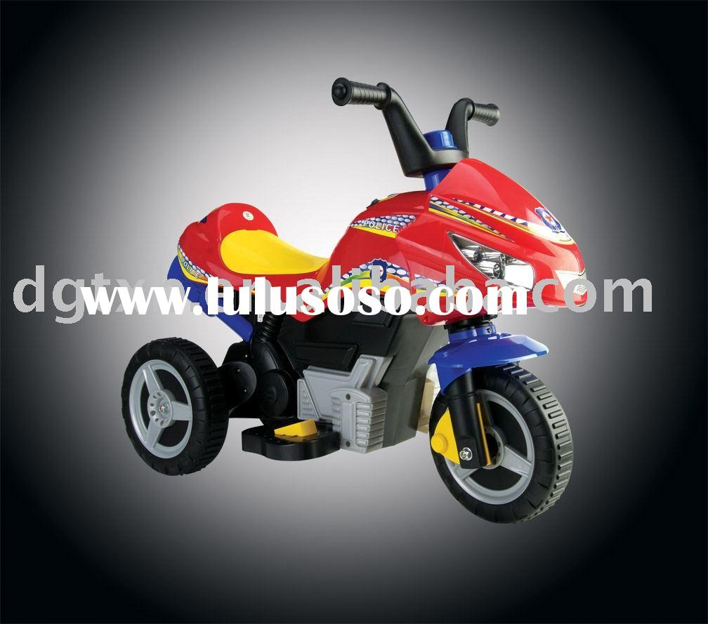 Children pedal toy motorcycle with battery operated power